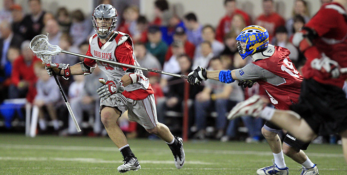 Ohio State men's lacrosse vs Team Canada Sunday, Jan. 20, 2013, in Columbus, Ohio. (Photo/Jay LaPrete)