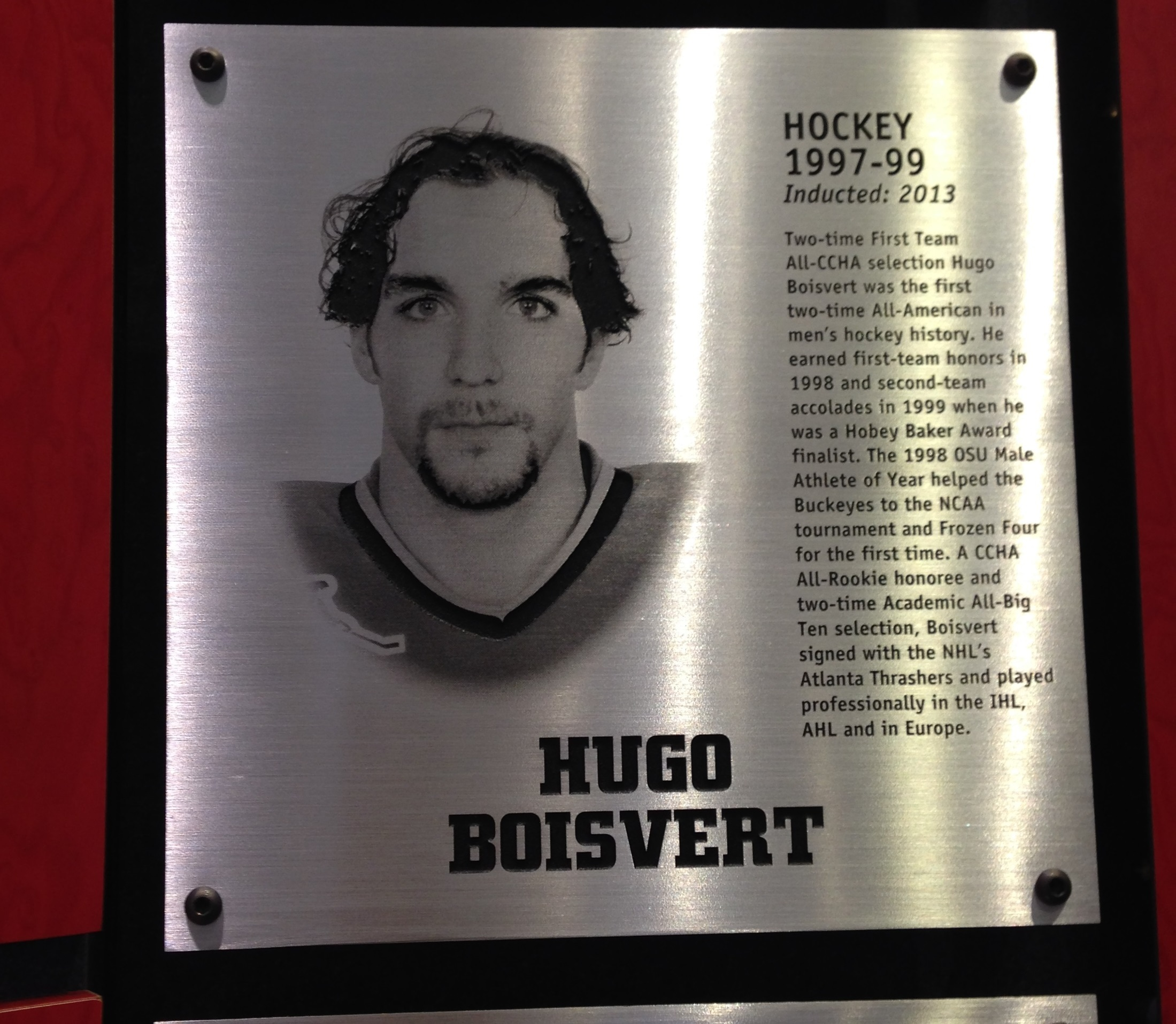 Hugo Boisvert, 2013 Hall of Fame Inductee