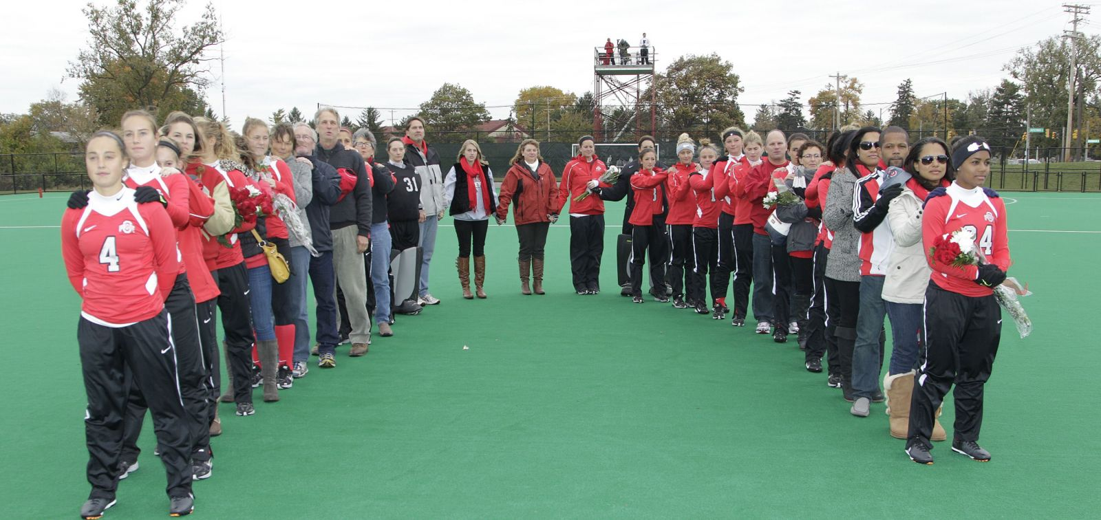 Ohio State field hockey against Indiana Saturday, Oct. 26, 2013, in Columbus, Ohio. (Photo/Jay LaPrete)