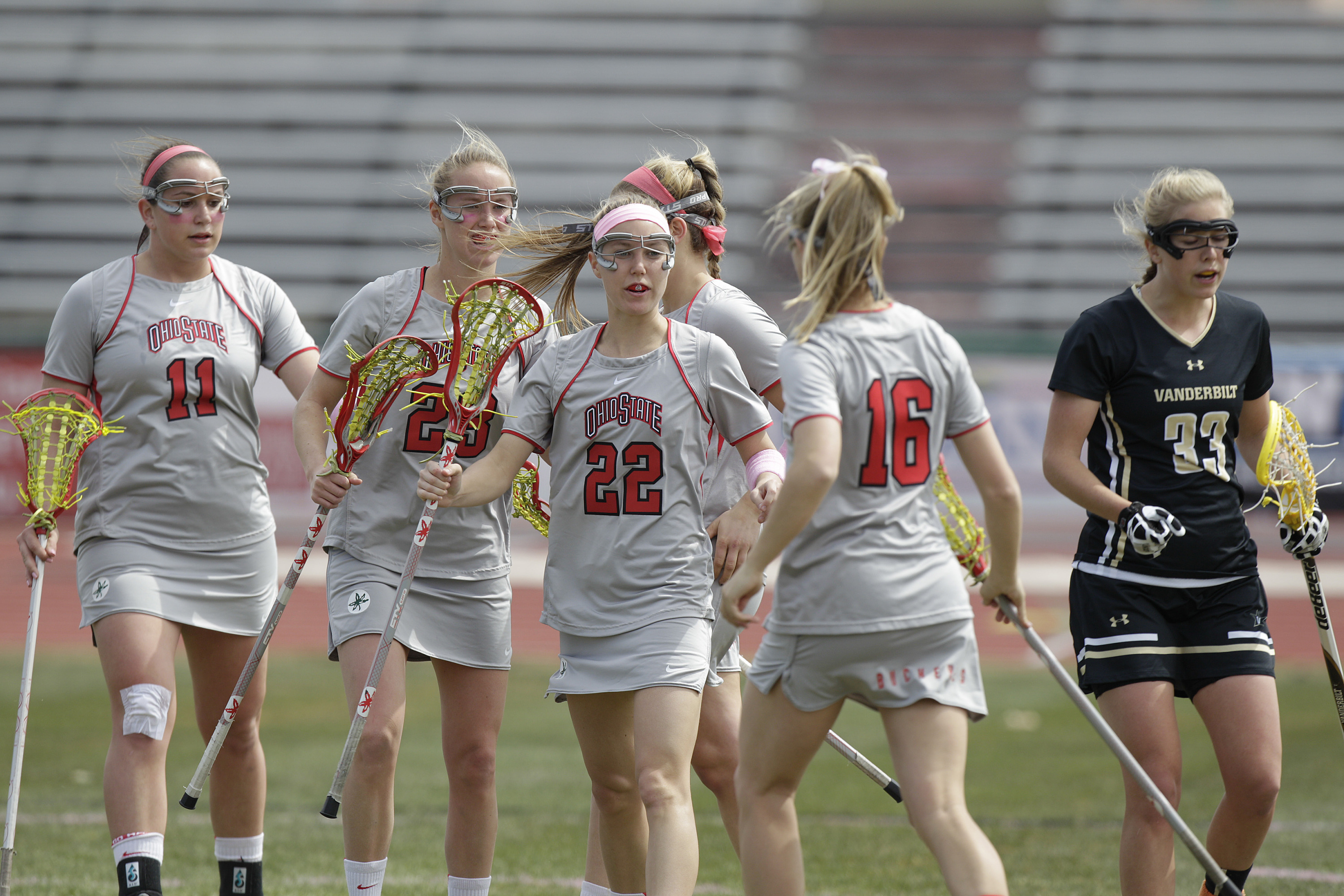 Ohio State women's lacrosse vs Vanderbilt Sunday, April 7, 2013, in Columbus, Ohio. (Photo/Jay LaPrete)