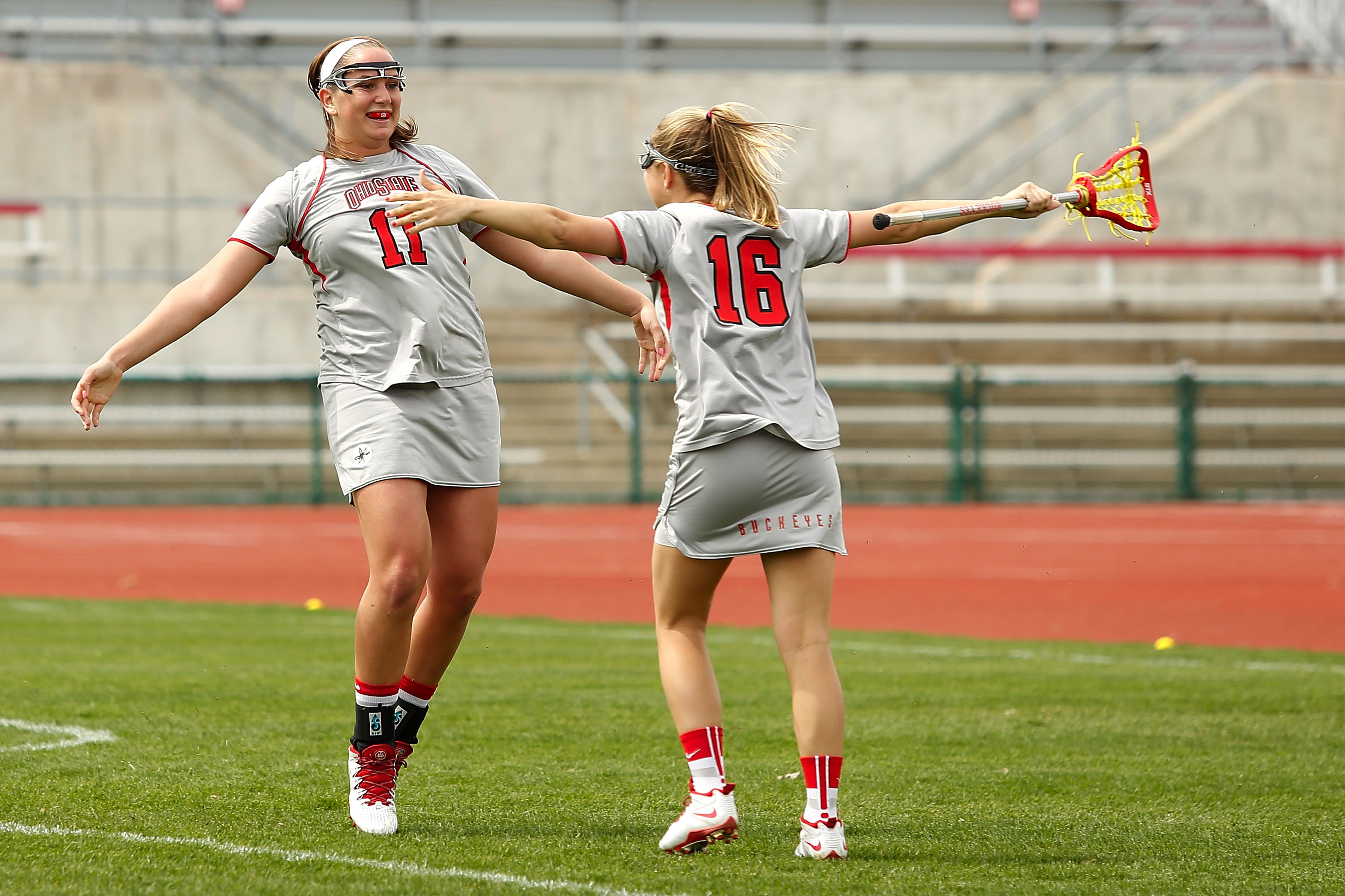 Ohio State plays Pen State in women's lacrosse at Jesse Owens Memorial Stadium in Columbus, Ohio on Sunday, April 13, 2014. Ohio State defeated Penn State 10-9.