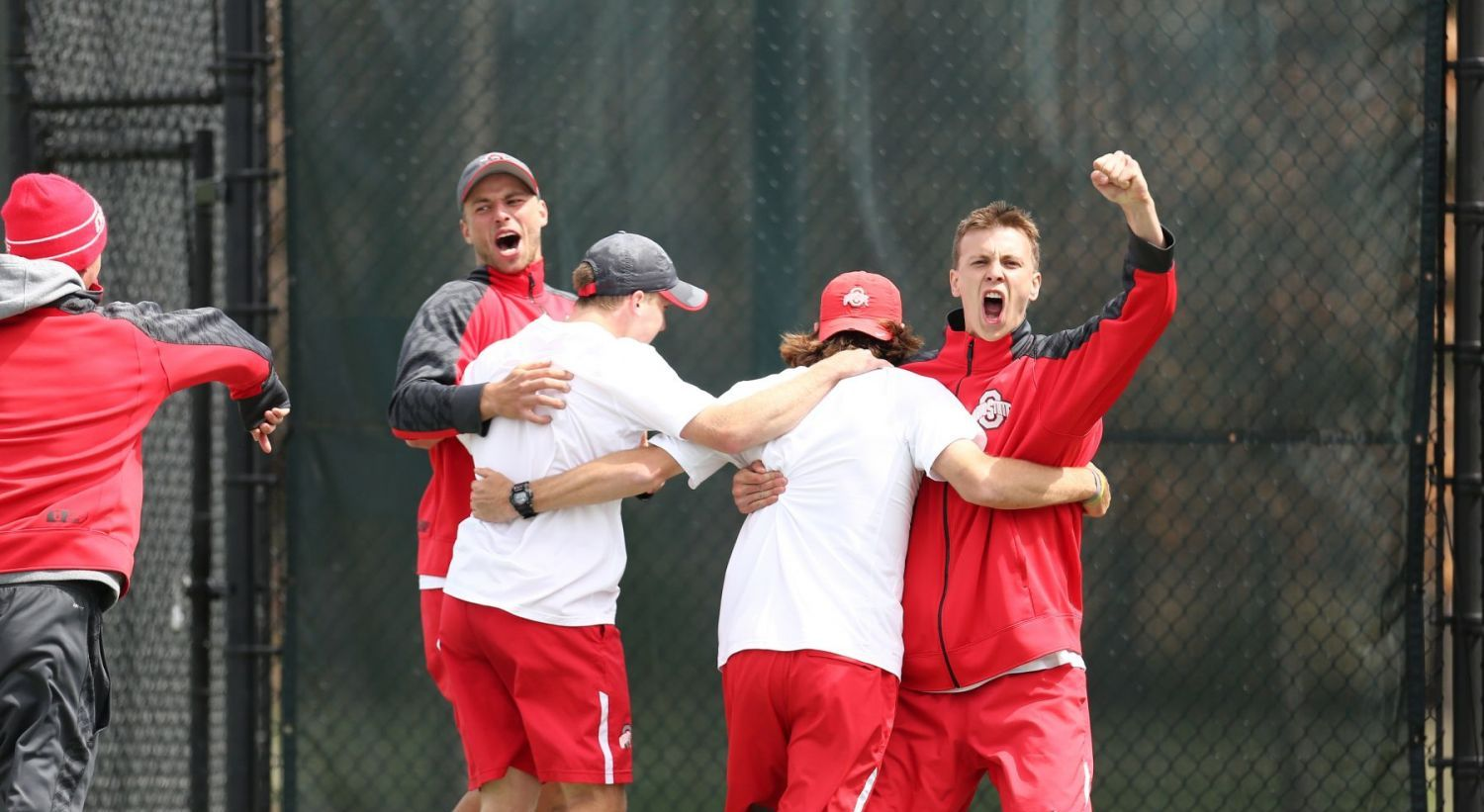 April 27, 2014. East Lansing, Mi; Ohio State Wins Men's Tennis Tournament. Mandatory Credit: Rey Del Rio