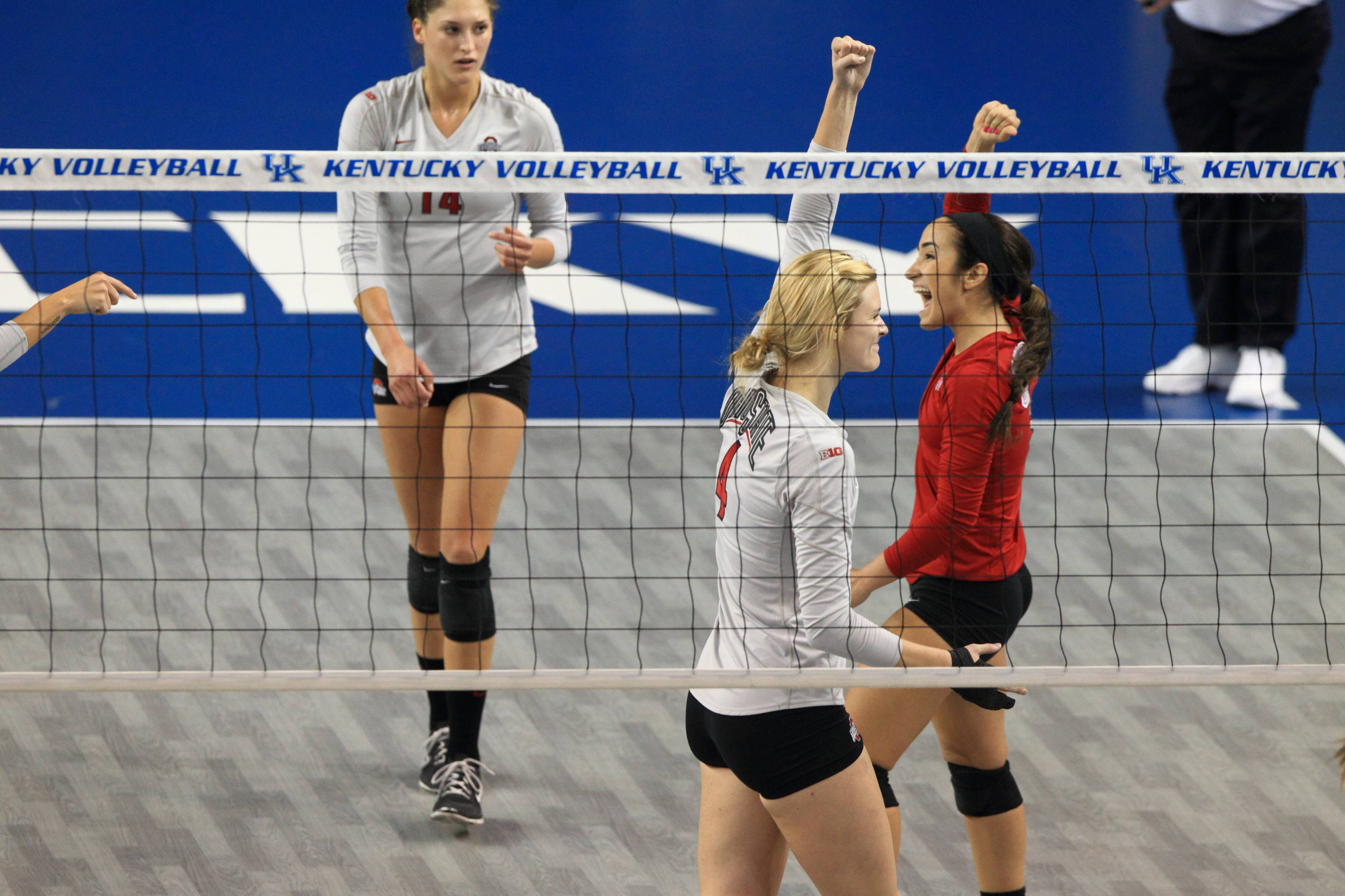 The Ohio State University moves onto the 2nd round of the 2014 NCAA Women's Volleyball Tournament. Lexington, KY. December 5, 2014