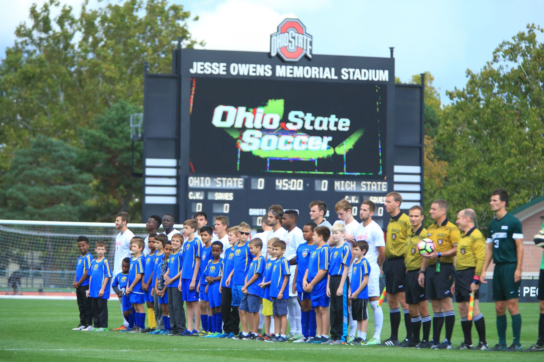 The Ohio State men's soccer team played Michigan State Sunday, Oct. 2, 2016 at Jesse Owens Memorial Stadium.