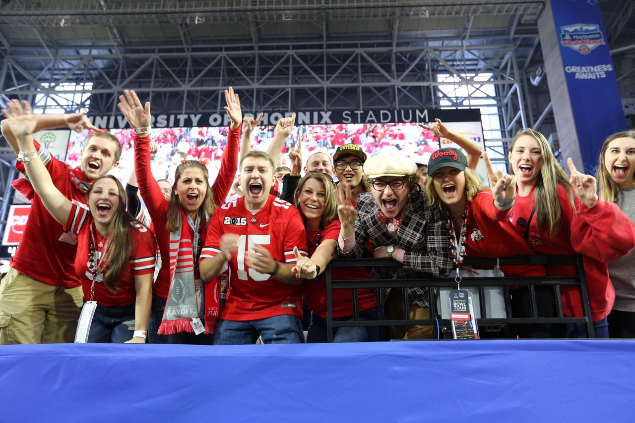 Buckeye fans are ready for the Playstation Fiesta Bowl between Ohio State and Clemson