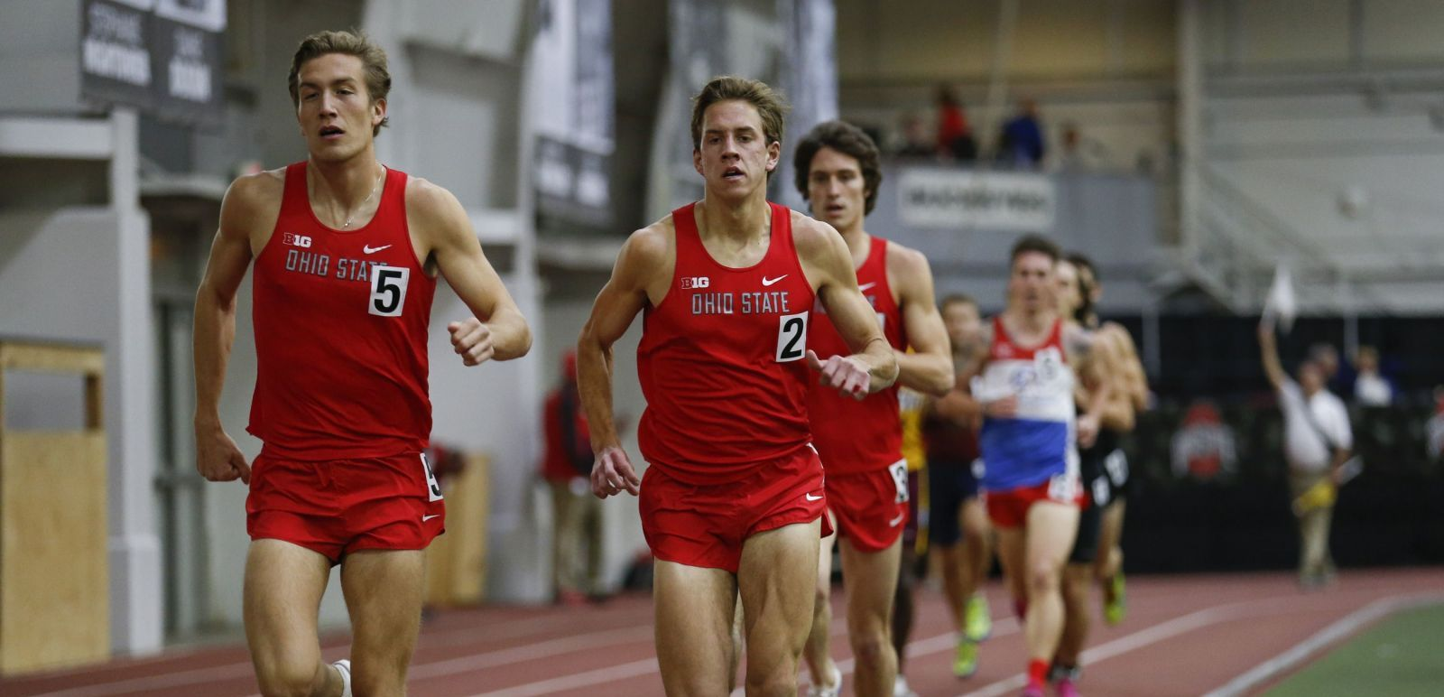 OSU Track Meet on Friday, January 6, 2017 at French Field House.  Mitch Leitch,  Jake Mandel