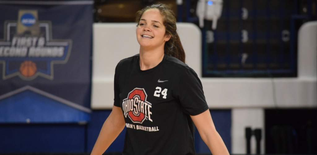 Ohio State women's basketball | 2017 NCAA Tournament, practice day + press conference prior to game against Western Kentucky.Makayla  Waterman (24)