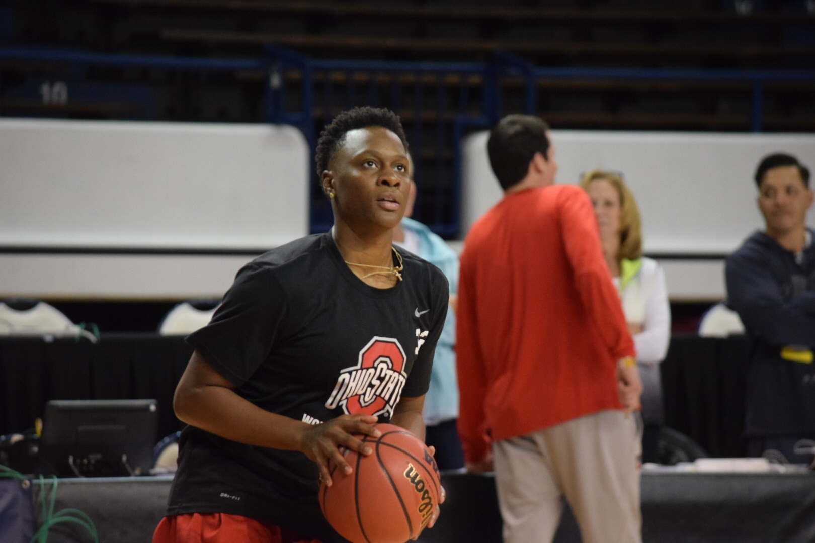 Ohio State women's basketball | 2017 NCAA Tournament, practice day + press conference prior to game against Western Kentucky.  Shayla  Cooper (32)