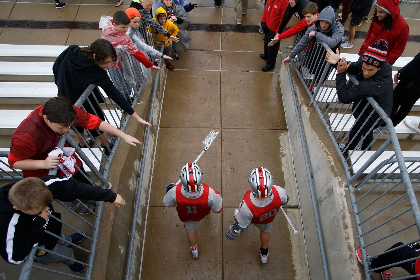 Ohio State defeated Johns Hopkins 15-13 in the Big 10 Men's Lacrosse semifinals at Jesse Owens Memorial Stadium on Thursday, May 4, 2017 in Columbus, Ohio.