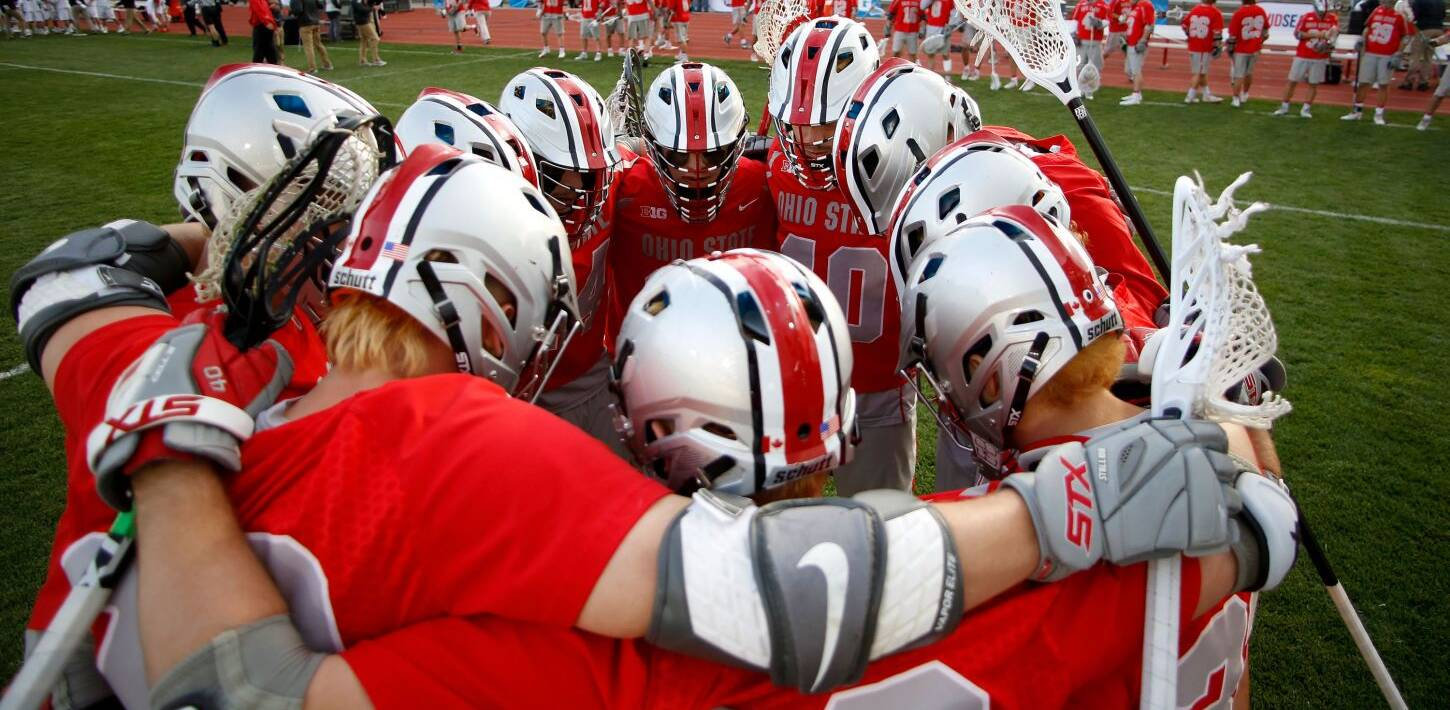 Ohio State plays Maryland in the Big 10 Men's Lacrosse finals at Jesse Owens Memorial Stadium on Saturday, May 6, 2017 in Columbus, Ohio.