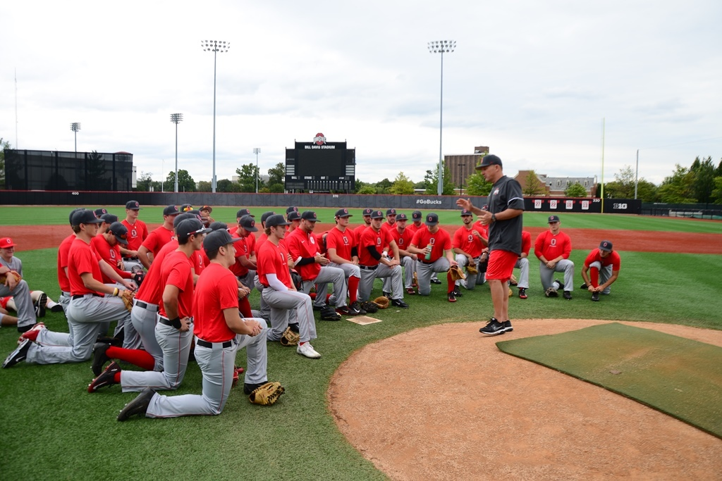 The Ohio State baseball team hit the diamond for the first time in  the fall of 2017.