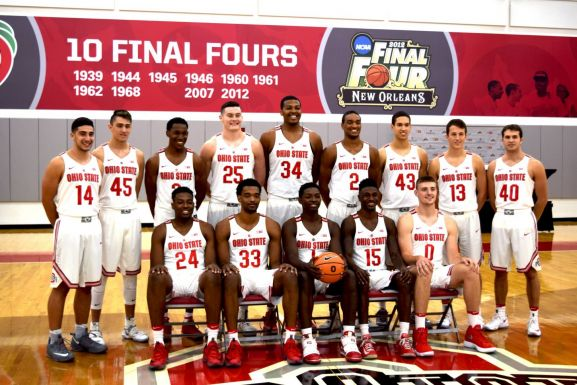 2017-2018 Ohio State Men's Basketball team photo