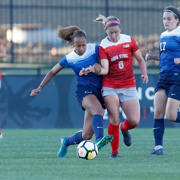 Ohio State Women's Soccer plays Penn State at Jesse Owens Memorial Stadium on Sunday, September 30, 2017 in Columbus, Ohio.  Eleanor  Gabriel (8)