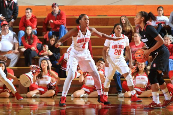 The Ohio State University women's basketball team open the regular season vs Stanford in St Johns Arena in Columbus, OH. November 10, 2017