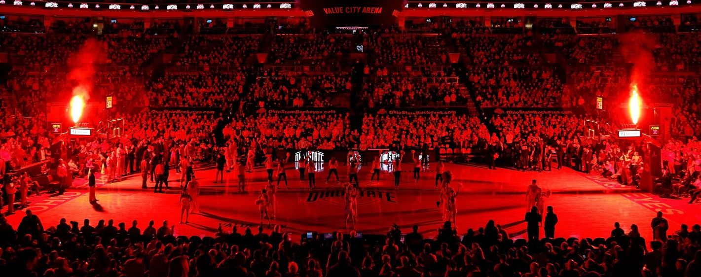 Ohio State plays Michigan State at the Schottenstein Center on January 7, 2018 in Columbus, Ohio