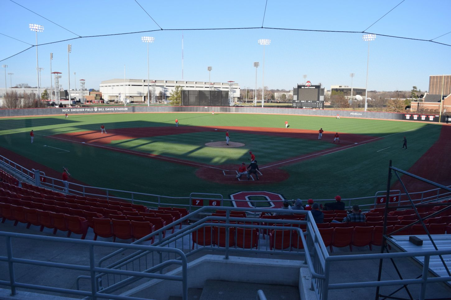 The Ohio State baseball team began practice for the 2018 season Friday, Jan. 26, at Bill Davis Stadium.