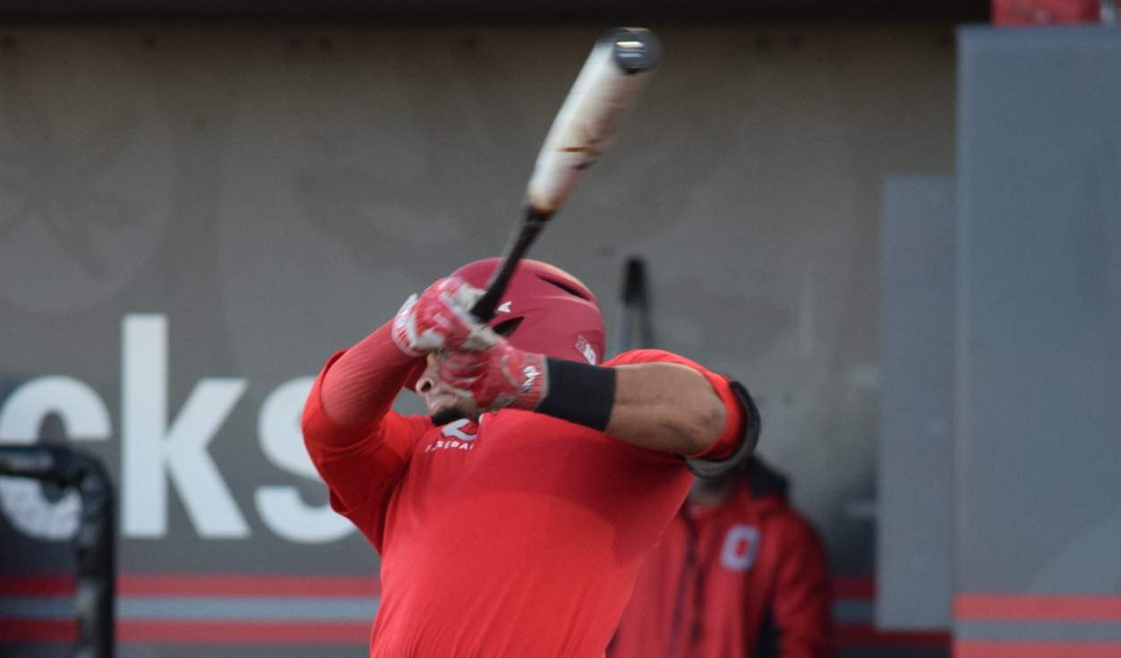 The Ohio State baseball team began practice for the 2018 season Friday, Jan. 26, at Bill Davis Stadium.  Noah  McGowan (4)