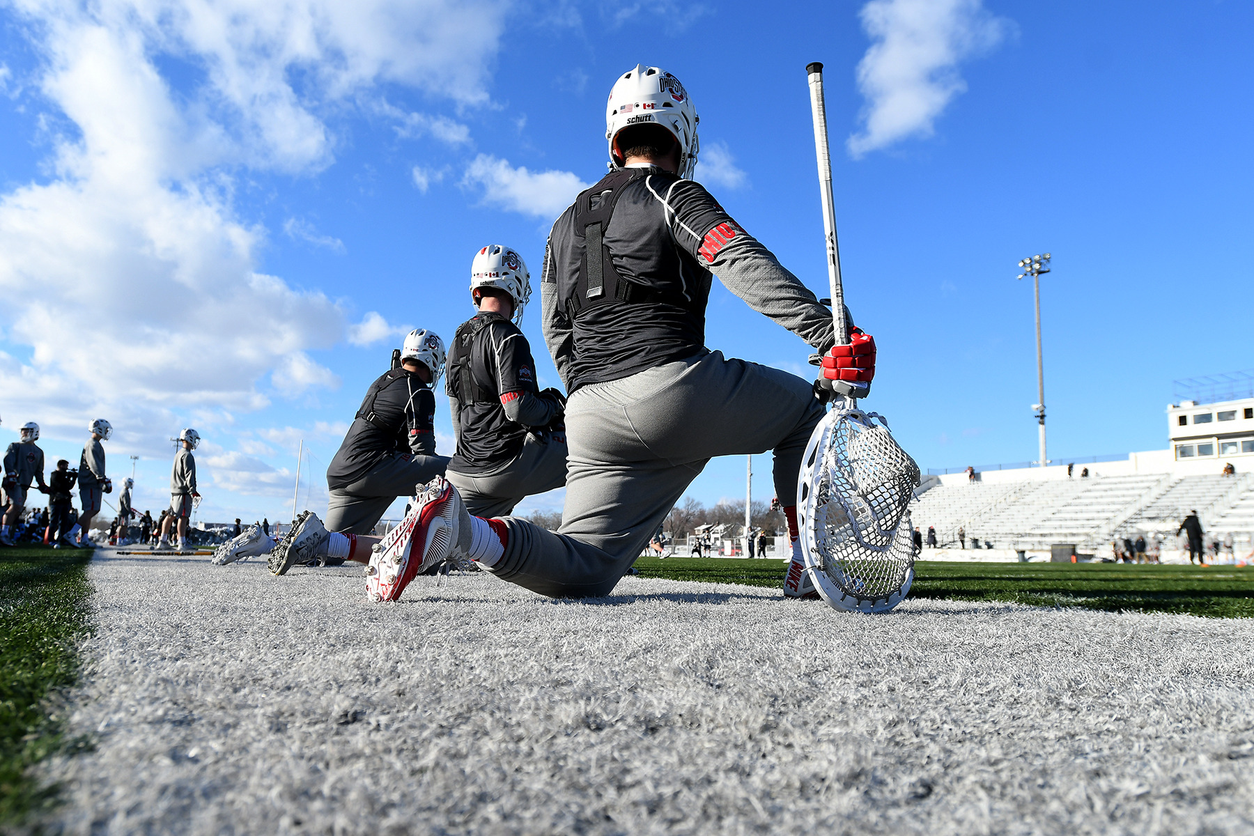 Ohio State University vs Marquette, men's lacrosse action in the Midwest Classic at Wisner Stadium in Pontiac, Michigan, Friday, March 2, 2018.