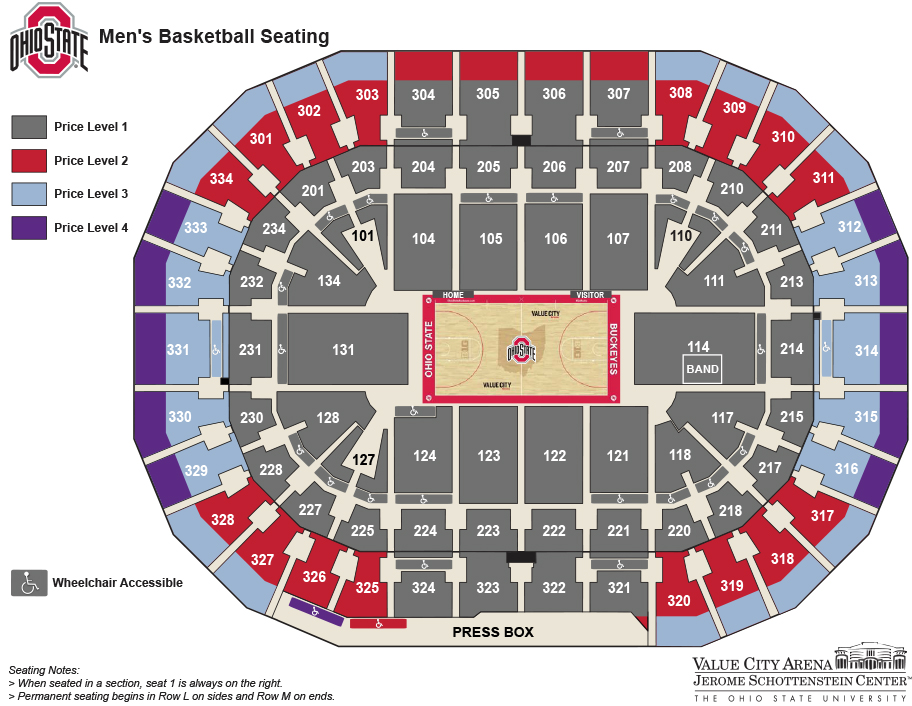 Men U2019s Basketball Tickets  U2013 Ohio State Buckeyes
