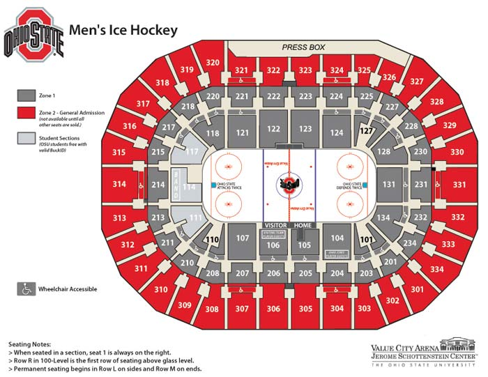 Men s ice hockey tickets ohio state buckeyes