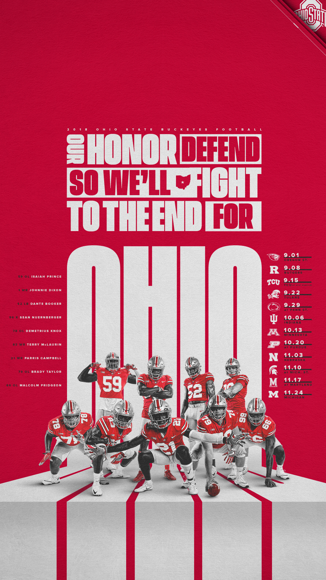 Schedule Posters – State Ohio Buckeyes