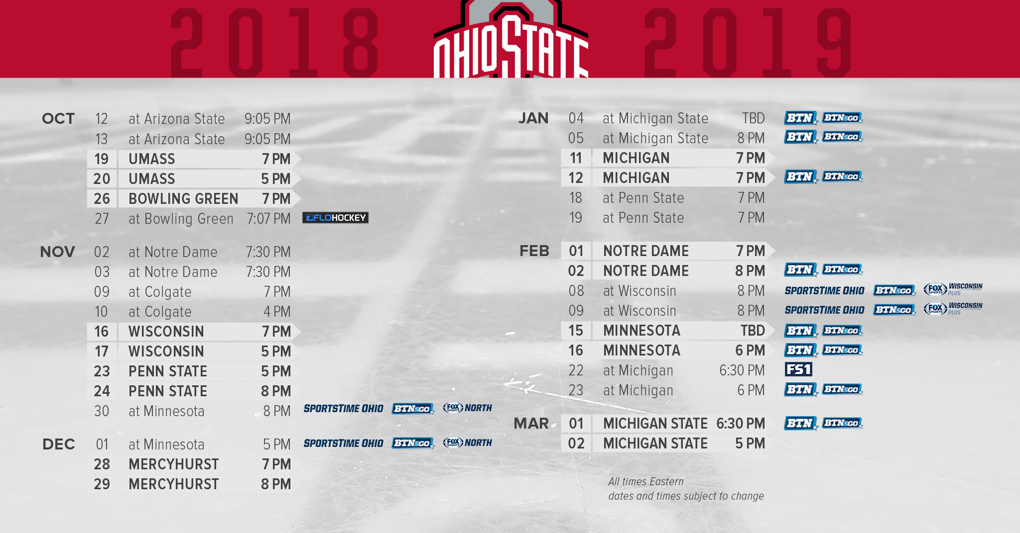 graphic relating to Kentucky Basketball Schedule Printable named Buckeyes Broadcast Agenda Introduced Ohio Country Buckeyes