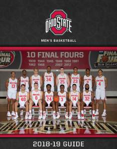 d6db1d80f0d7 Download the full 2018-19 Ohio State Men s Basketball Team Guide