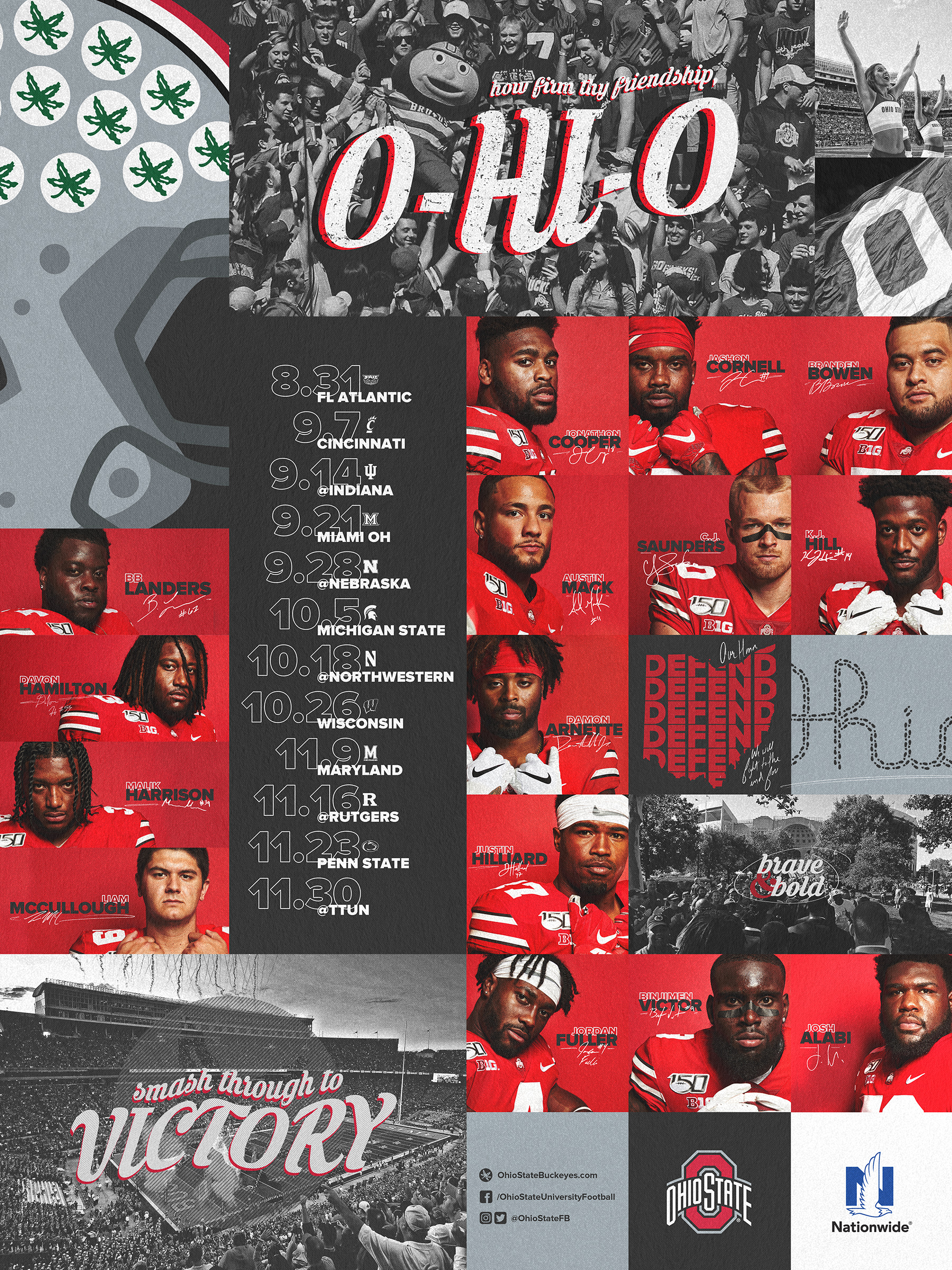 Schedule Posters – Ohio State Buckeyes