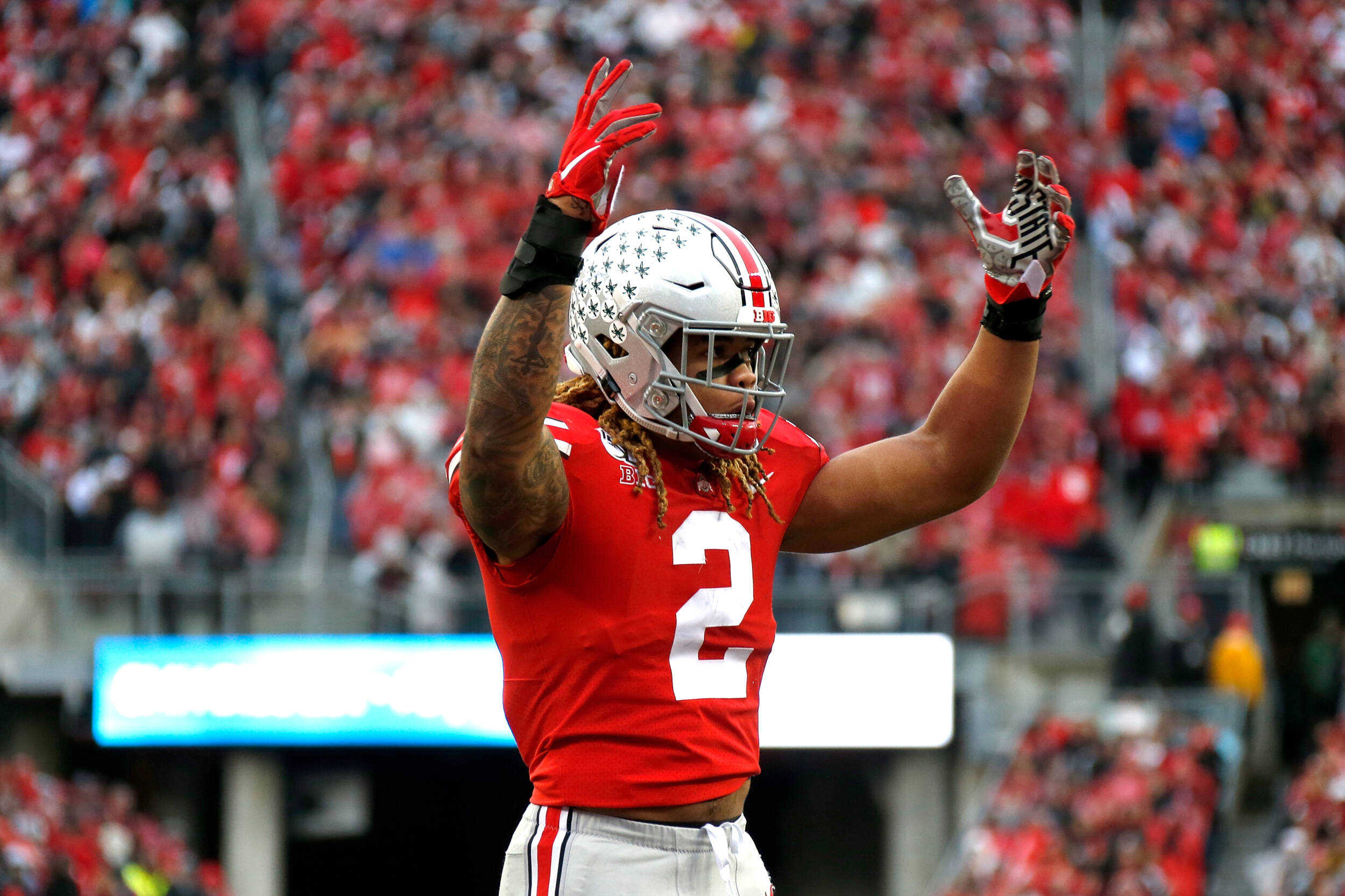 J K Dobbins Chase Young Big Ten Players Of The Week Ohio State Buckeyes