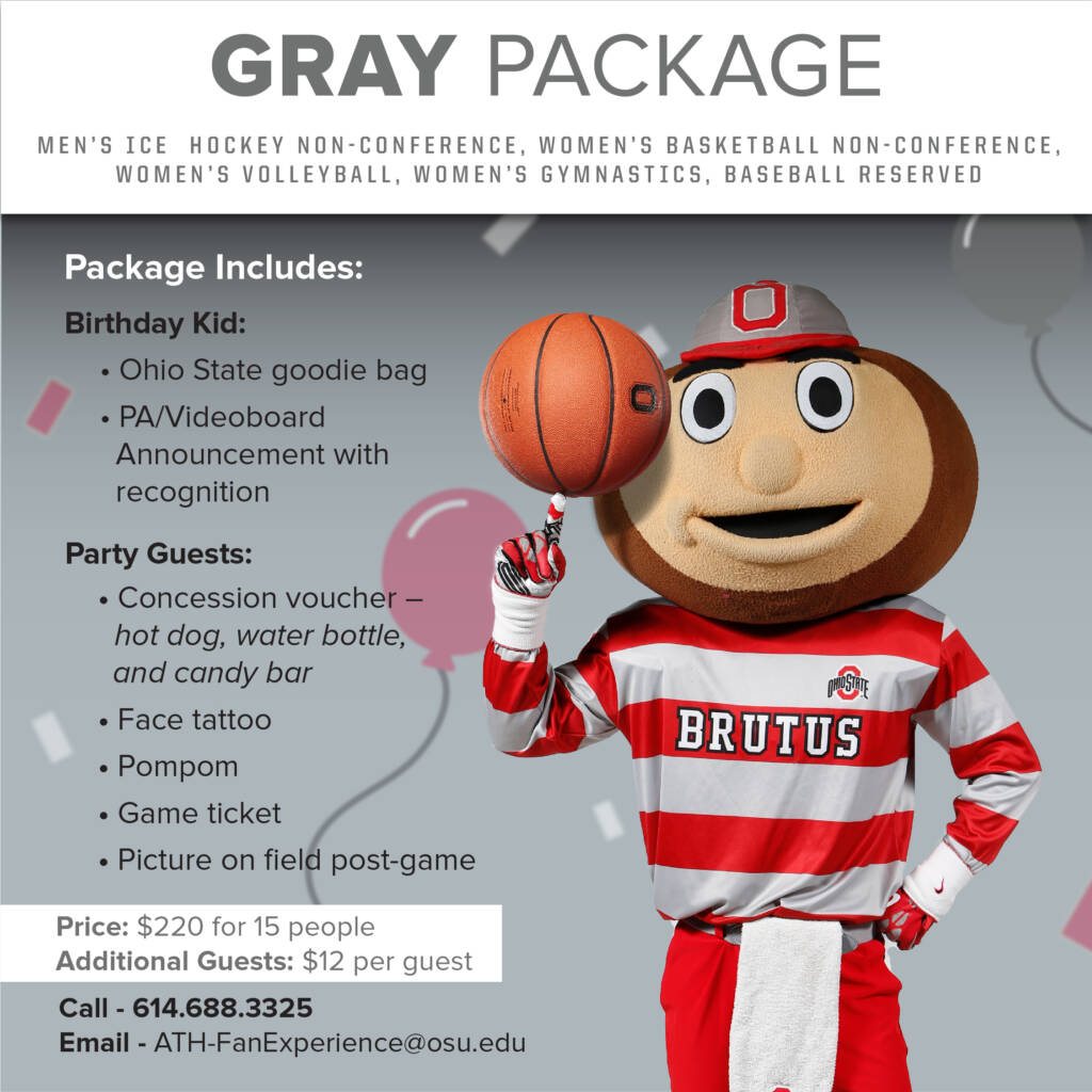 birthday gray package
